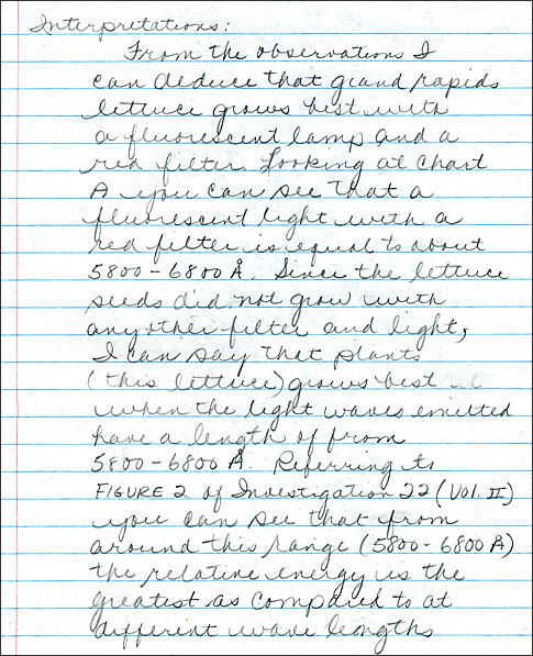 handwriting essay