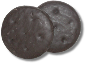 The Girl Scouts' Thin Mints. Pictured larger than real life, but not ...