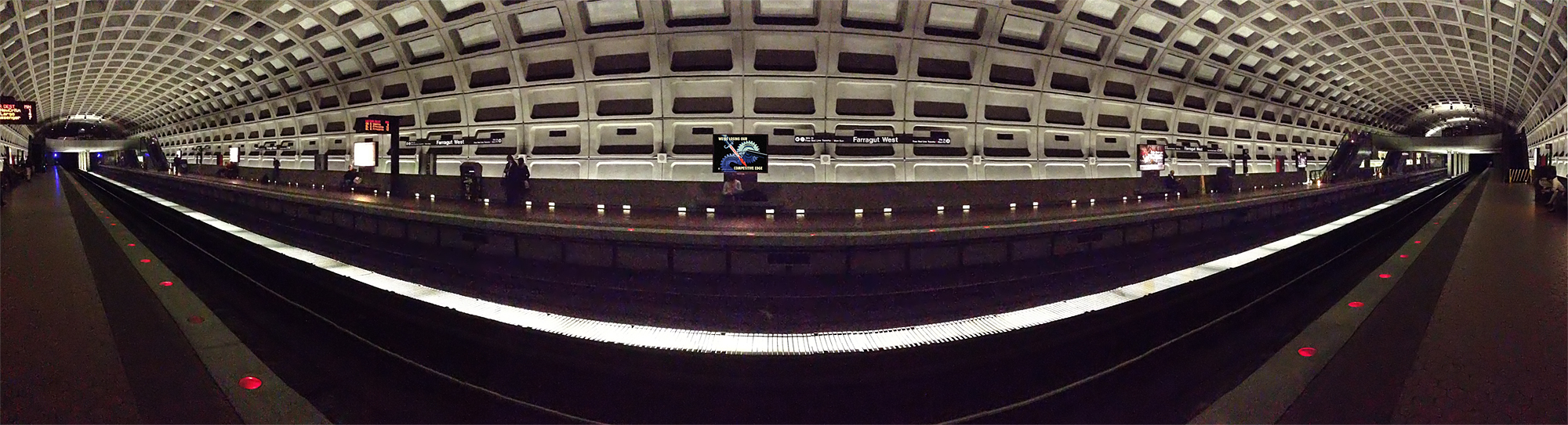 Chamomile Tea Party poster panorama in Farragut West Metro station